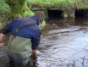 Water sampling on a mussel river (Bretagne Vivante)